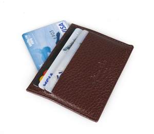 Футляр для кредитных карт, коричневый