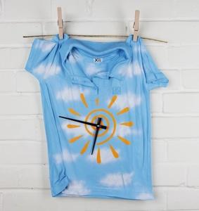 Часы «Рубашка», небесно-голубые