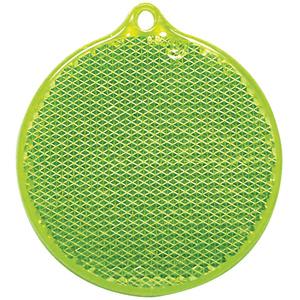 Пешеходный светоотражатель «Круг», зеленый