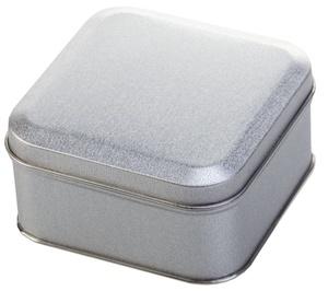 Коробка квадратная, серебристая