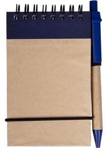 Блокнот на кольцах Eco Note с ручкой, синий
