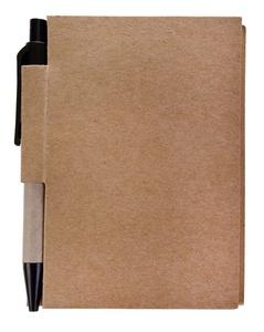 Мини-блокнот Eco Light c ручкой с черными элементами