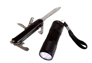 Набор Keg: карманный нож и фонарик