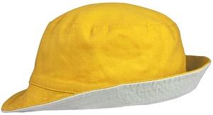 Панама Unit Summer двусторонняя, желтая с серым