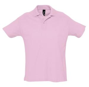 Рубашка поло мужская SUMMER 170, розовая