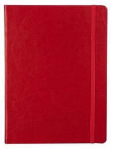 Блокнот Freenote, в клетку, красный