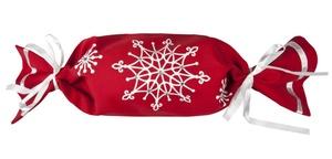 Упаковка-конфета «Снежинки», красная